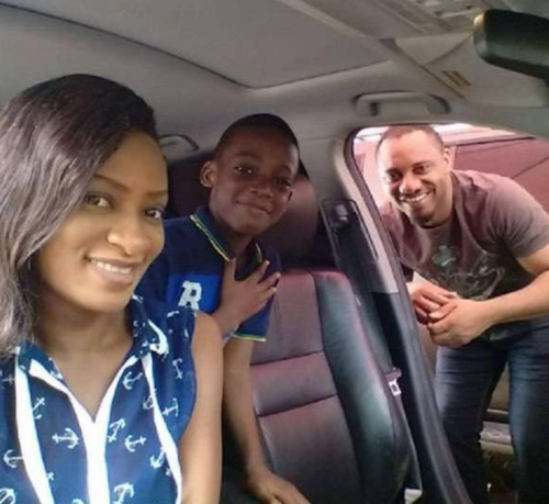 Yul Edochie, May Edochie and son