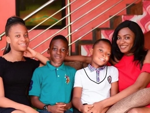 Yul Edochie's wife and children