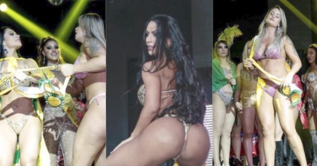 2018 Miss BumBum contestants fight