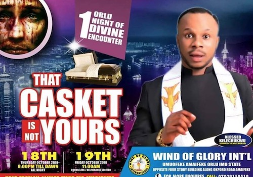 Late Pastor's flyer