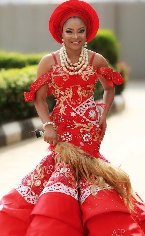 Linda Ejiofor on her traditional wedding day