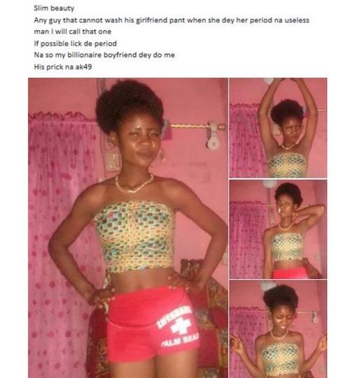 nigerian girl period pant
