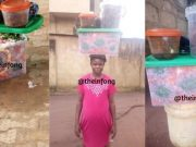 Pictures of the woman who sells decorated Abacha
