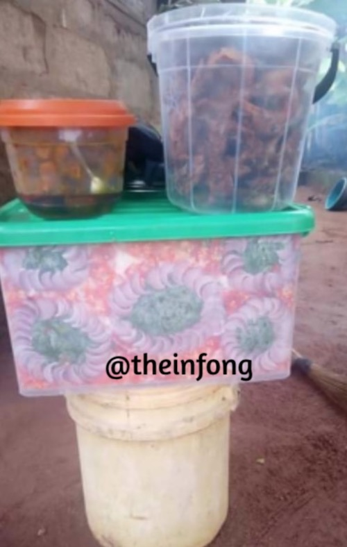 Woman who sells decorated Abacha