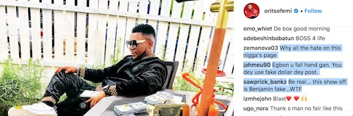 fan attacks oritse femi