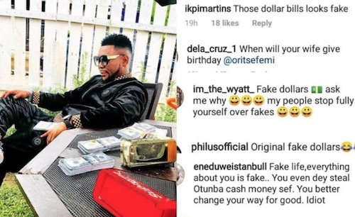 fan attacks oritse femi dollar