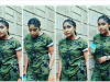 Angela Okorie rocks camouflage outfit