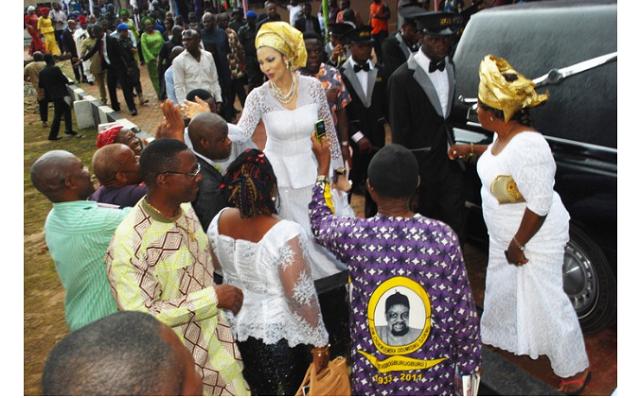 Bianca Ojukwu's mother's burial