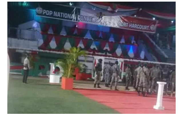 Police seal PDP convention ground