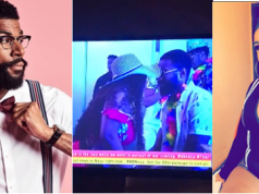 See what Tacha was caught doing to Mike during last night's party