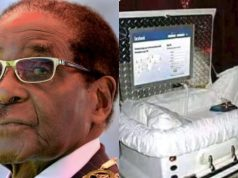 Check out Roberts Mugabe's coffin that has AC, computer, Internet and he can't decay in 10 years (Photos)