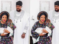 Toyin Abraham shares first family photo with her husband and son