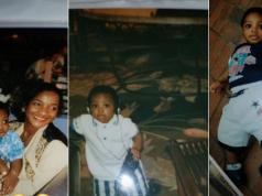 Davido shares his childhood photos