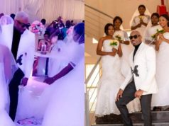 Pretty Mike attends wedding with 5 ladies dressed as brides in wedding gown (Video